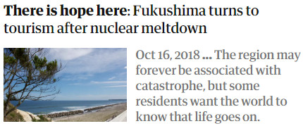 There is hope here: Fukushima turns to tourism after nuclear meltdown